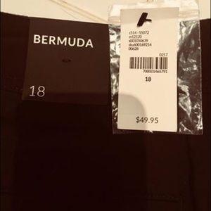 Lane Bryant Women's Bermuda Shorts. Size 18